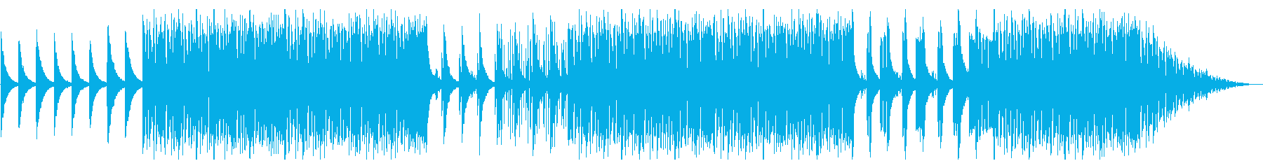 不気味な森を探索するようなBGMの再生済みの波形