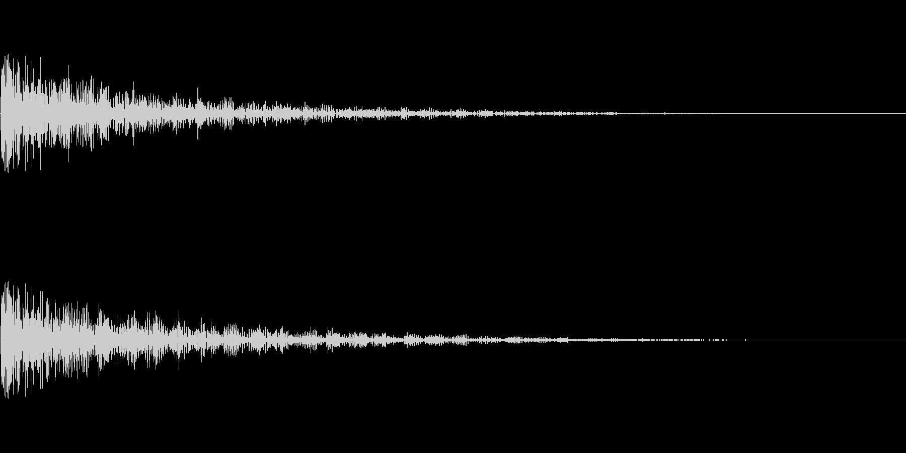 中爆発の未再生の波形