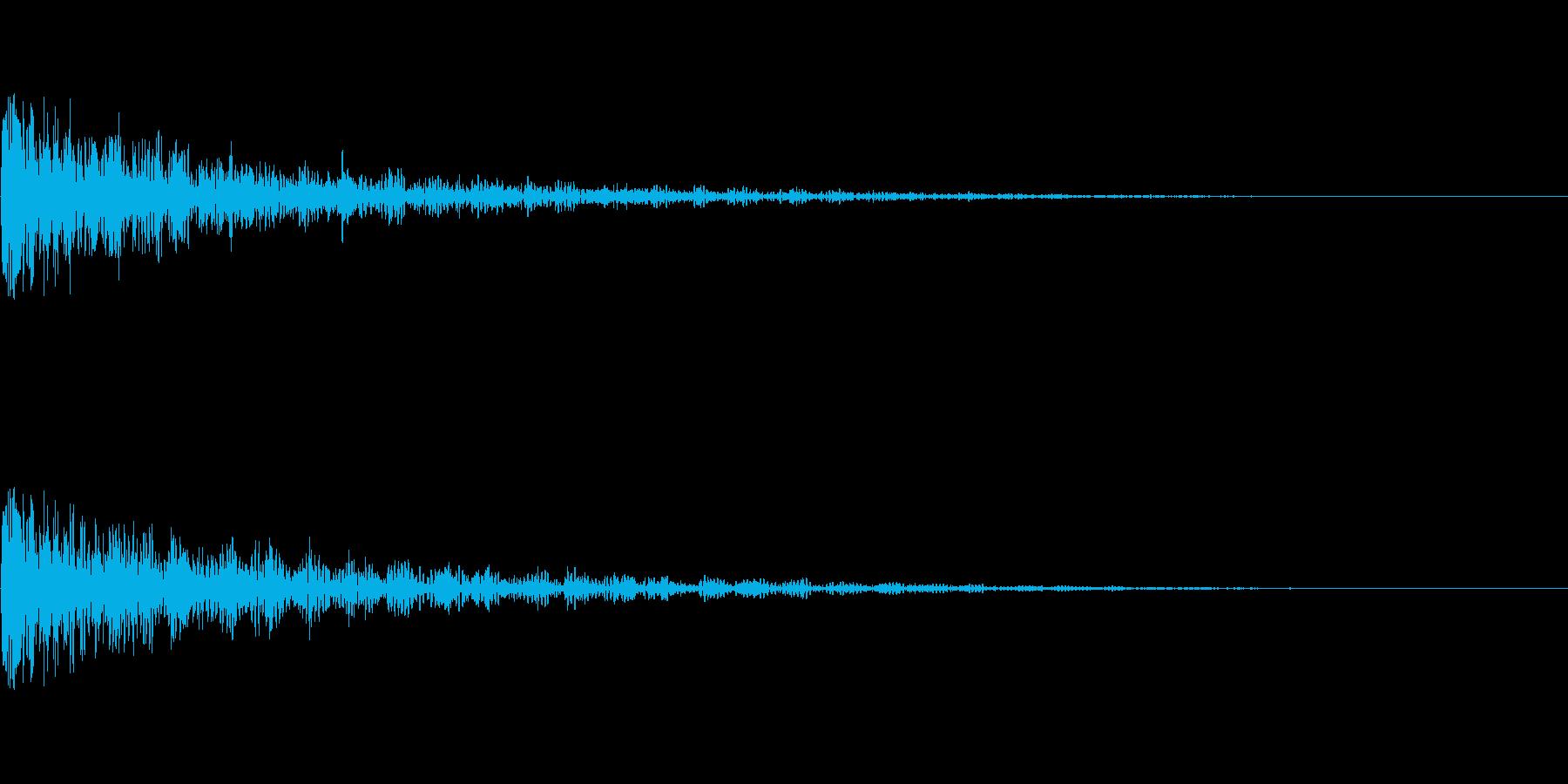 中爆発の再生済みの波形
