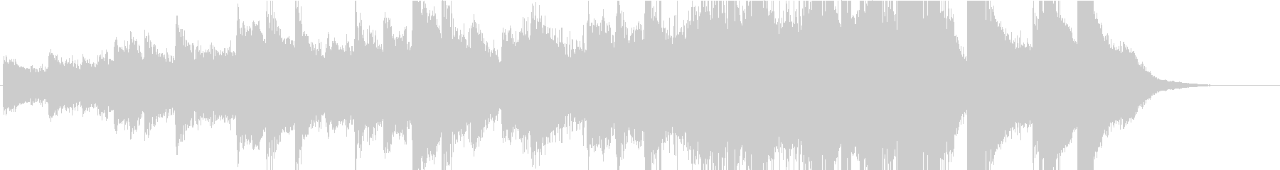 不安や切迫を感じるピアノソロの未再生の波形