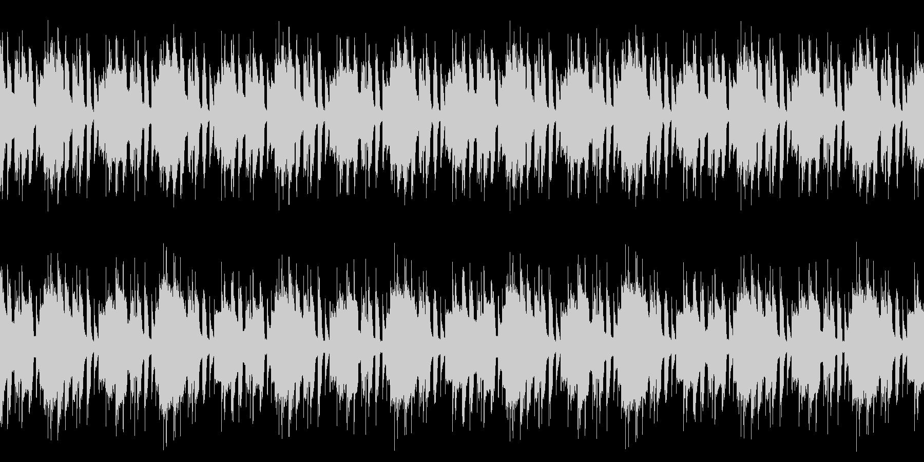 ピアノとベルの明るいBGM※ループ仕様の未再生の波形
