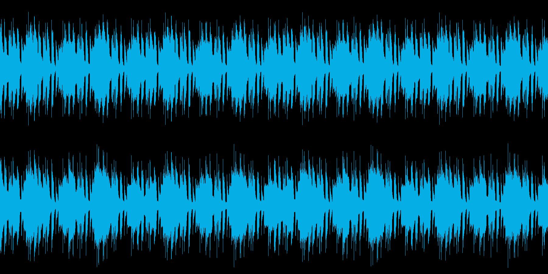 ピアノとベルの明るいBGM※ループ仕様の再生済みの波形