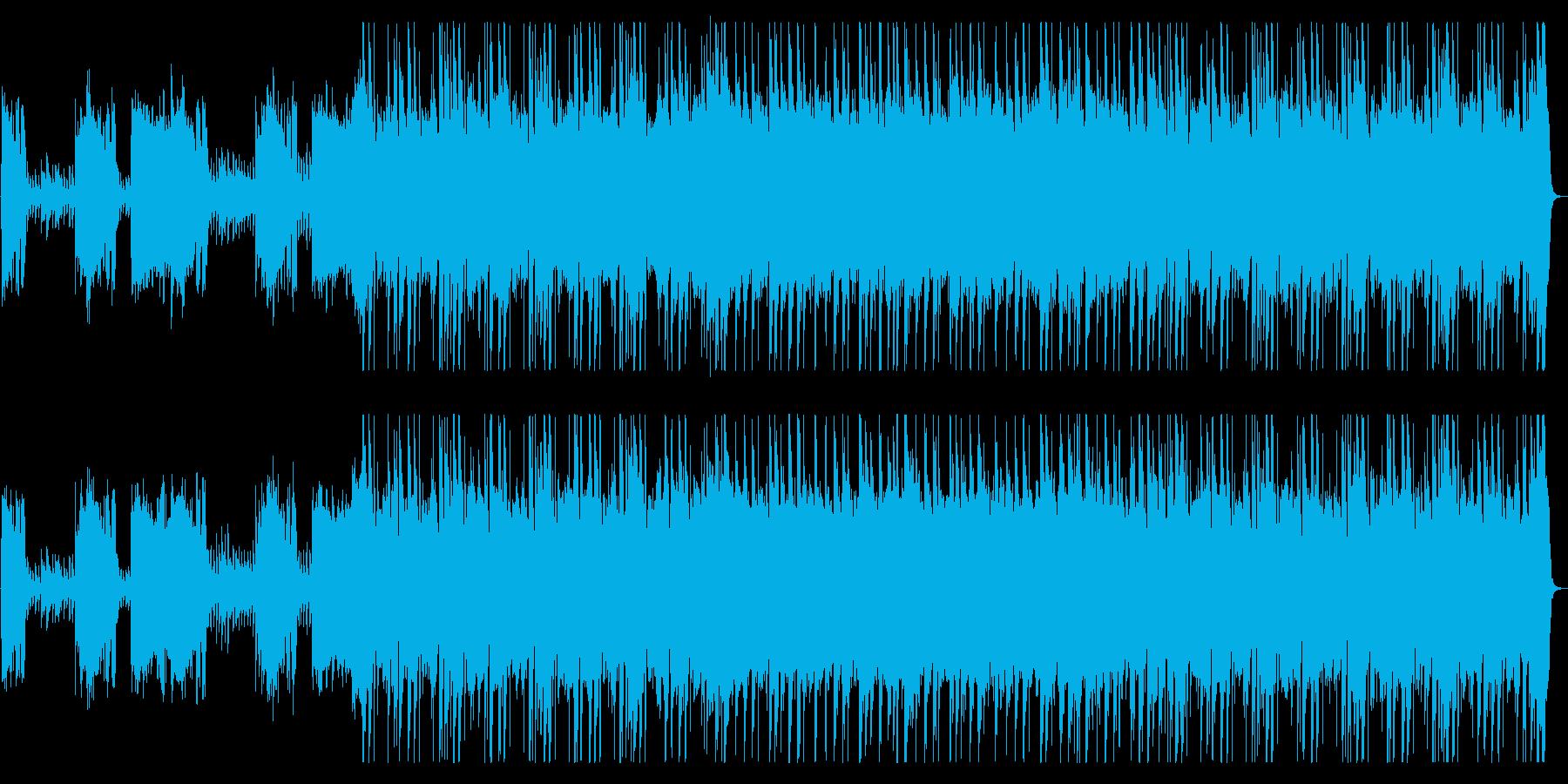 バトルを予感させるハードなメタルロックの再生済みの波形