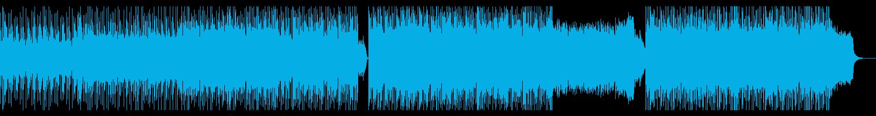 ピアノメインのノリのいい曲の再生済みの波形