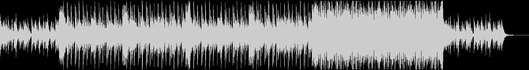 ピアノとドラムのヒーリングの未再生の波形