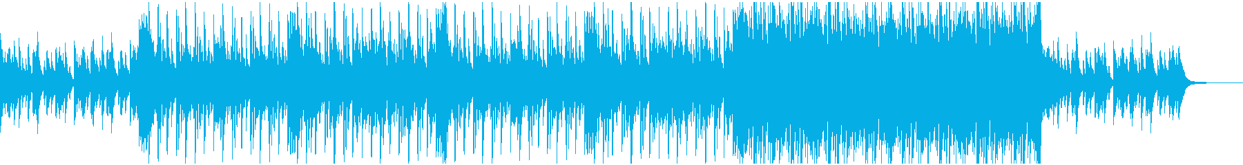 ピアノとドラムのヒーリングの再生済みの波形