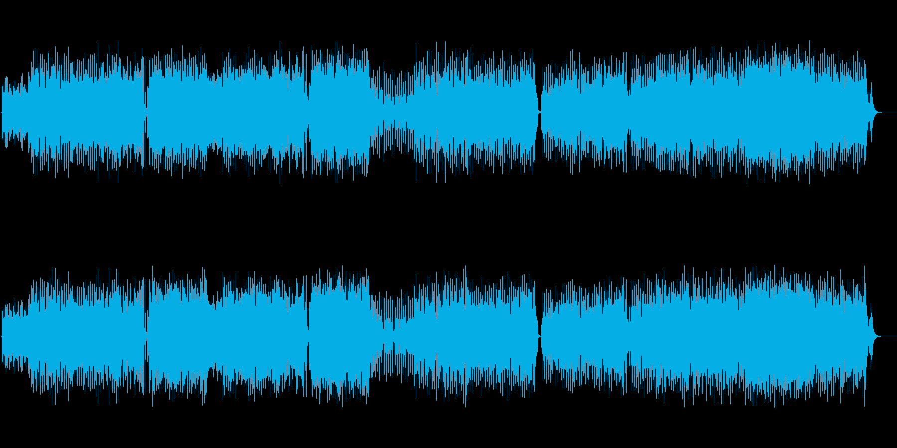キュートなテクノポップ風フュージョンの再生済みの波形