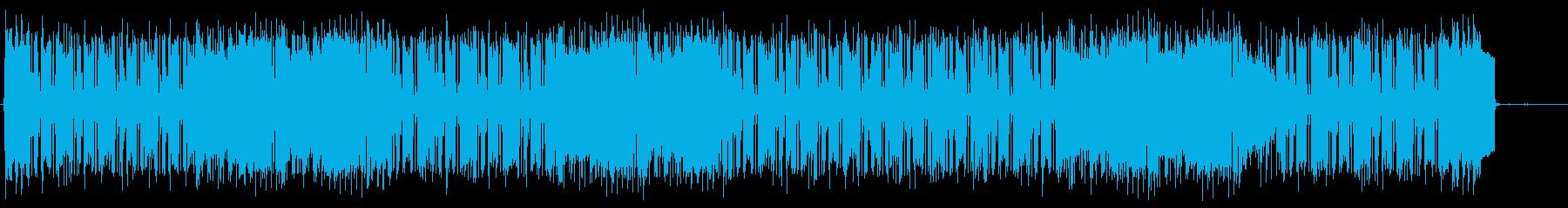 近未来的で怪しげな魅力のテクノポップスの再生済みの波形