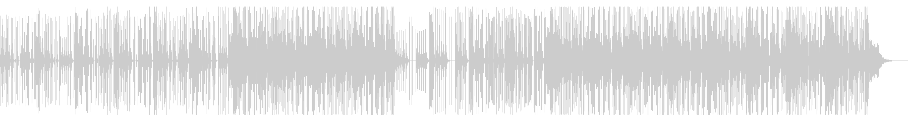 80's風テクノBGMの未再生の波形