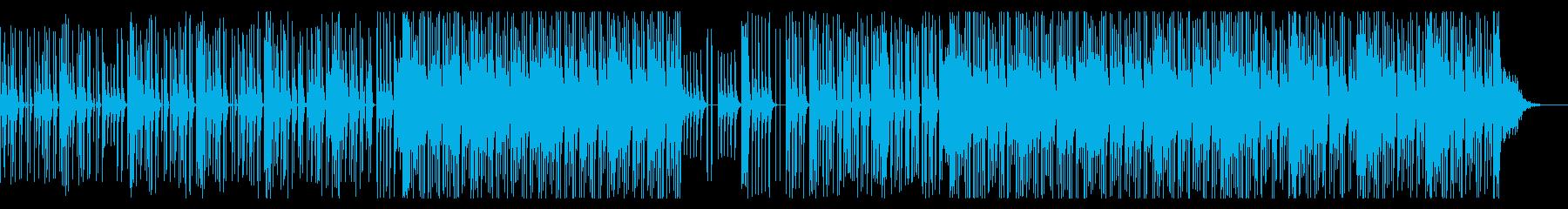 80's風テクノBGMの再生済みの波形