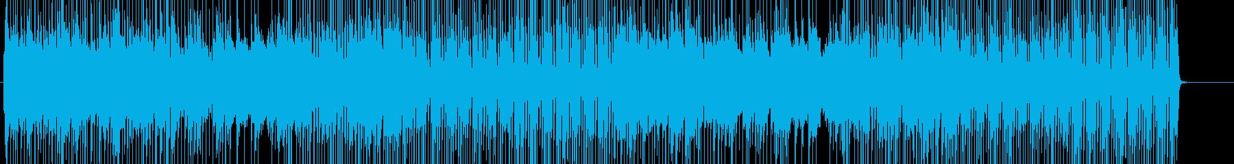 雑魚敵用の通常戦闘曲の再生済みの波形