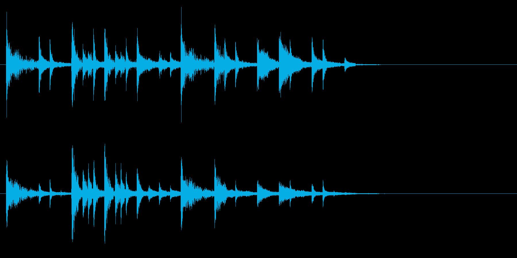 リズミカルな転換音 ドンチカチャリーンの再生済みの波形