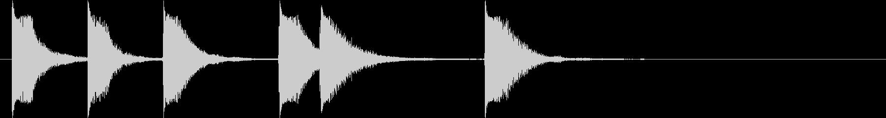 ピアノジングル 幼児向けアニメ系A-02の未再生の波形