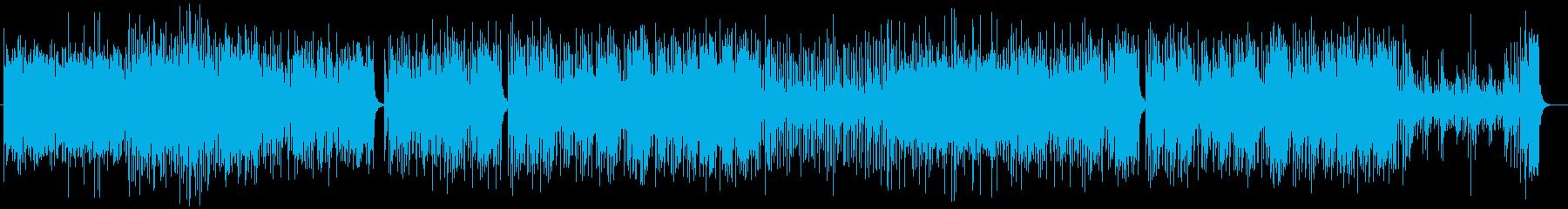 リズミカルでムーディーなピアノラテン系曲の再生済みの波形