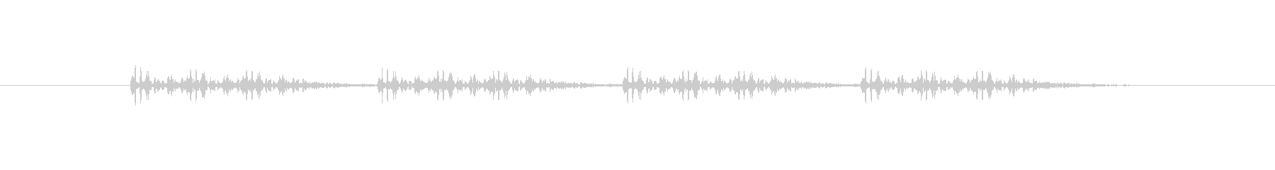 連射系の銃声(三点バースト)の未再生の波形
