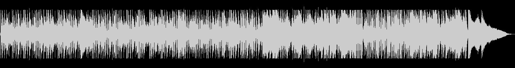 スローテンポのピアノジャズの曲の未再生の波形
