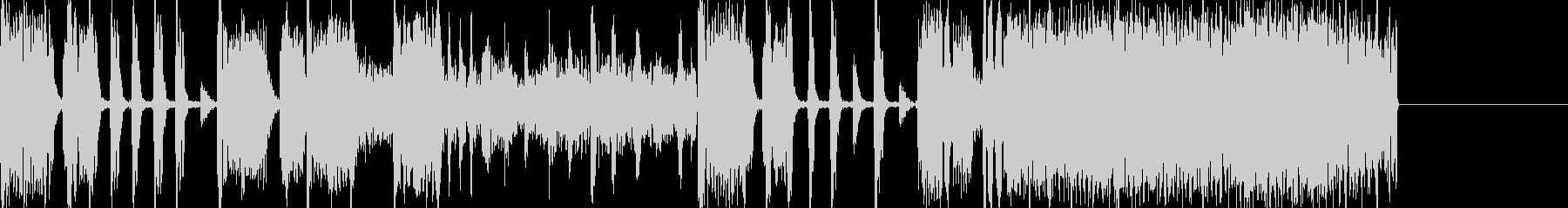 クールなビートのエレクトロジングル1の未再生の波形