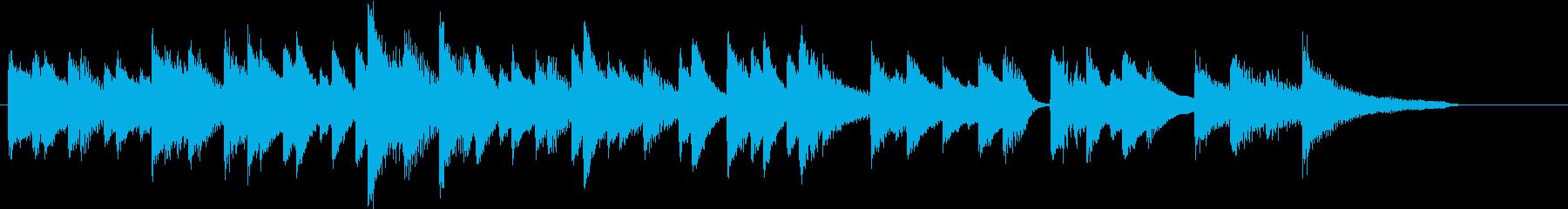 シンプルジャズのしっとり春ピアノジングルの再生済みの波形