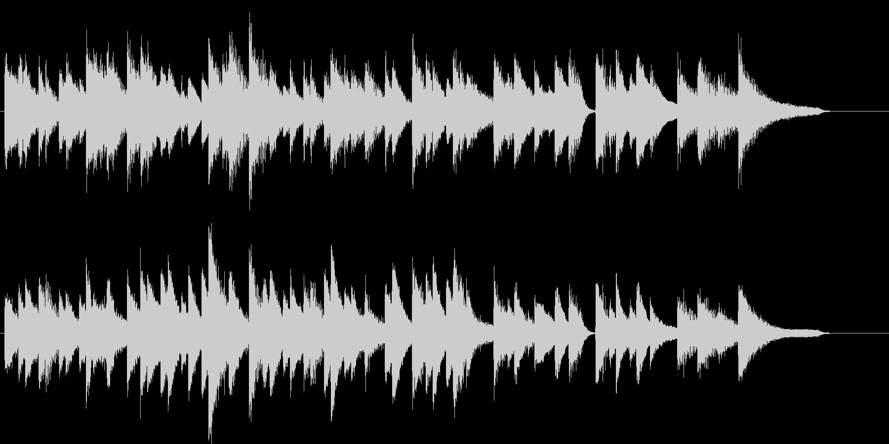 シンプルジャズのしっとり春ピアノジングルの未再生の波形