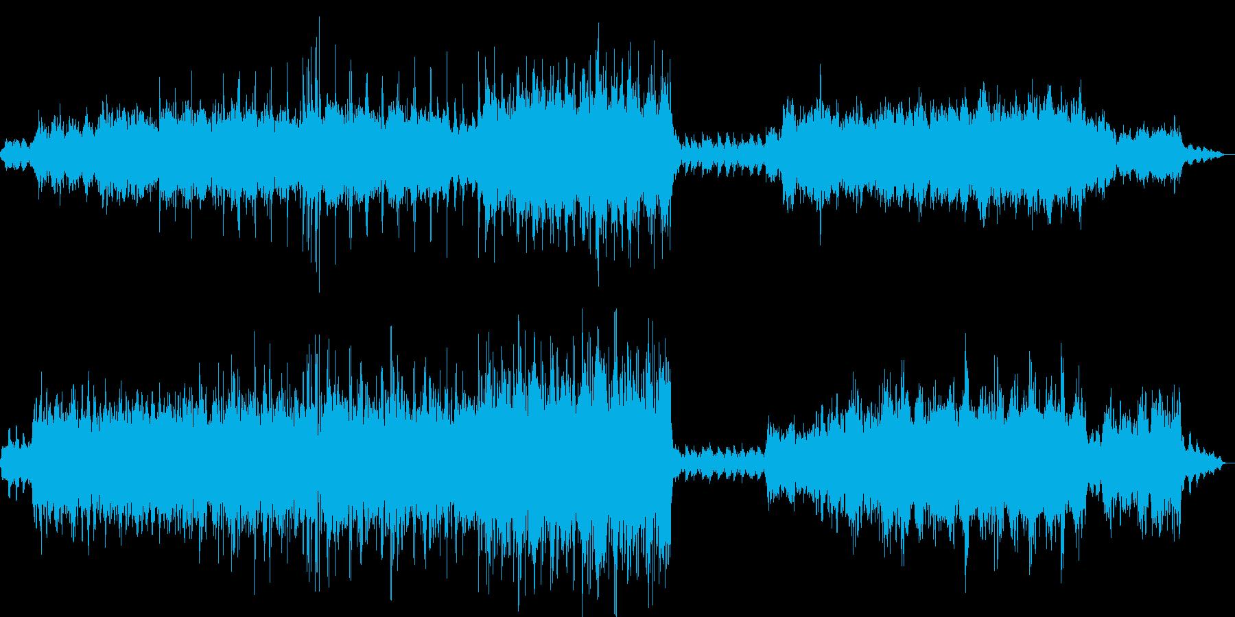 幻想的で美しいヒーリングミュージックの再生済みの波形