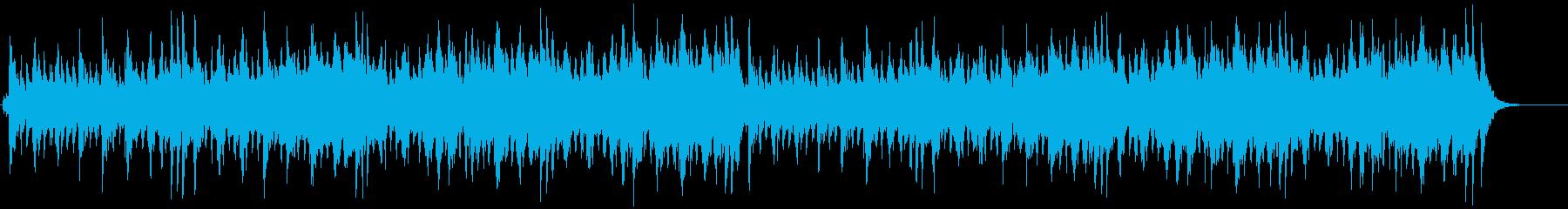 クリスマス感のあるメルヘンテイストBGMの再生済みの波形