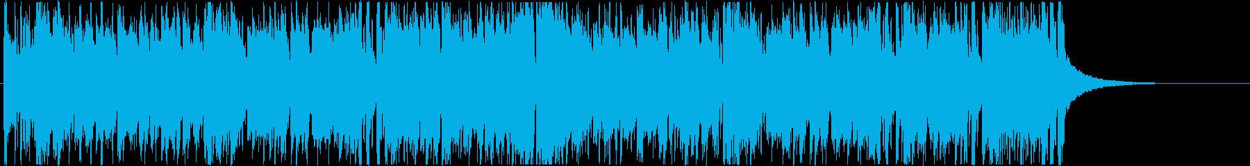 結果発表 ハイテンションなディスコ曲の再生済みの波形