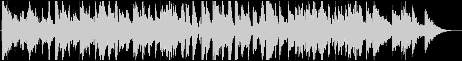 おしゃれで軽快なピアノトリオのジングルの未再生の波形