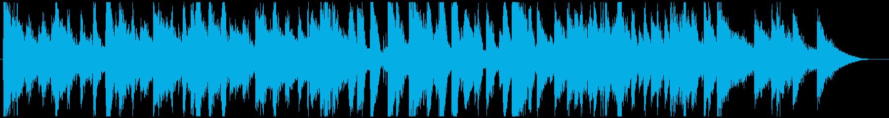 おしゃれで軽快なピアノトリオのジングルの再生済みの波形