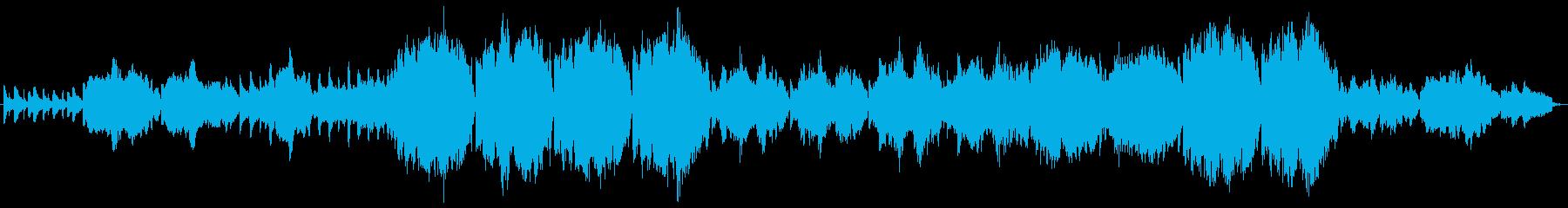 ほのぼのした和風曲の再生済みの波形