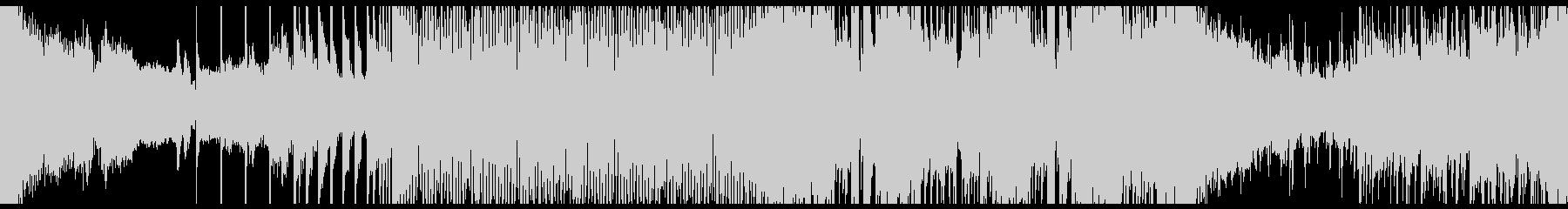 トランス、EDM系のループ音楽のBGMの未再生の波形