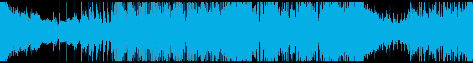 トランス、EDM系のループ音楽のBGMの再生済みの波形