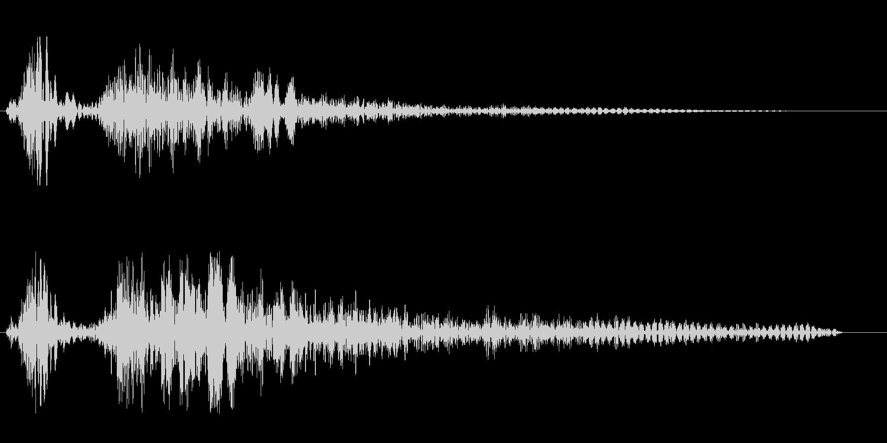 シューン(風の音色)の未再生の波形