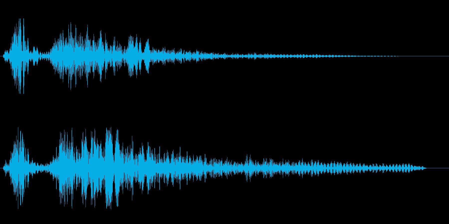 シューン(風の音色)の再生済みの波形