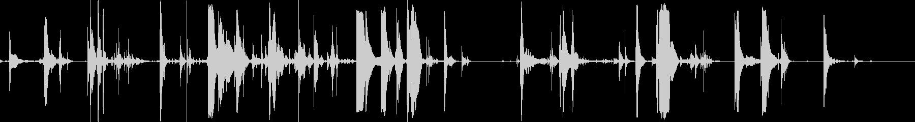 ガラスドロップの未再生の波形