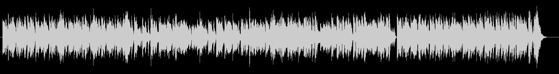 カエルを音楽で表現したユーモラスな曲の未再生の波形