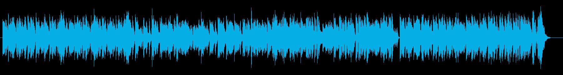カエルを音楽で表現したユーモラスな曲の再生済みの波形
