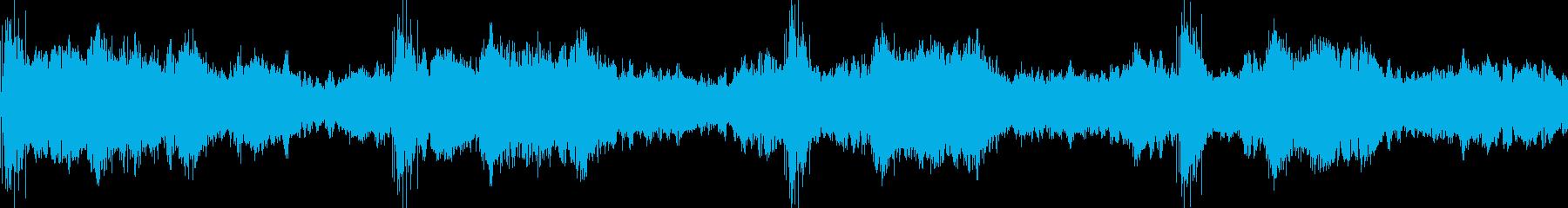 不気味な洋館に入った時のような音の再生済みの波形