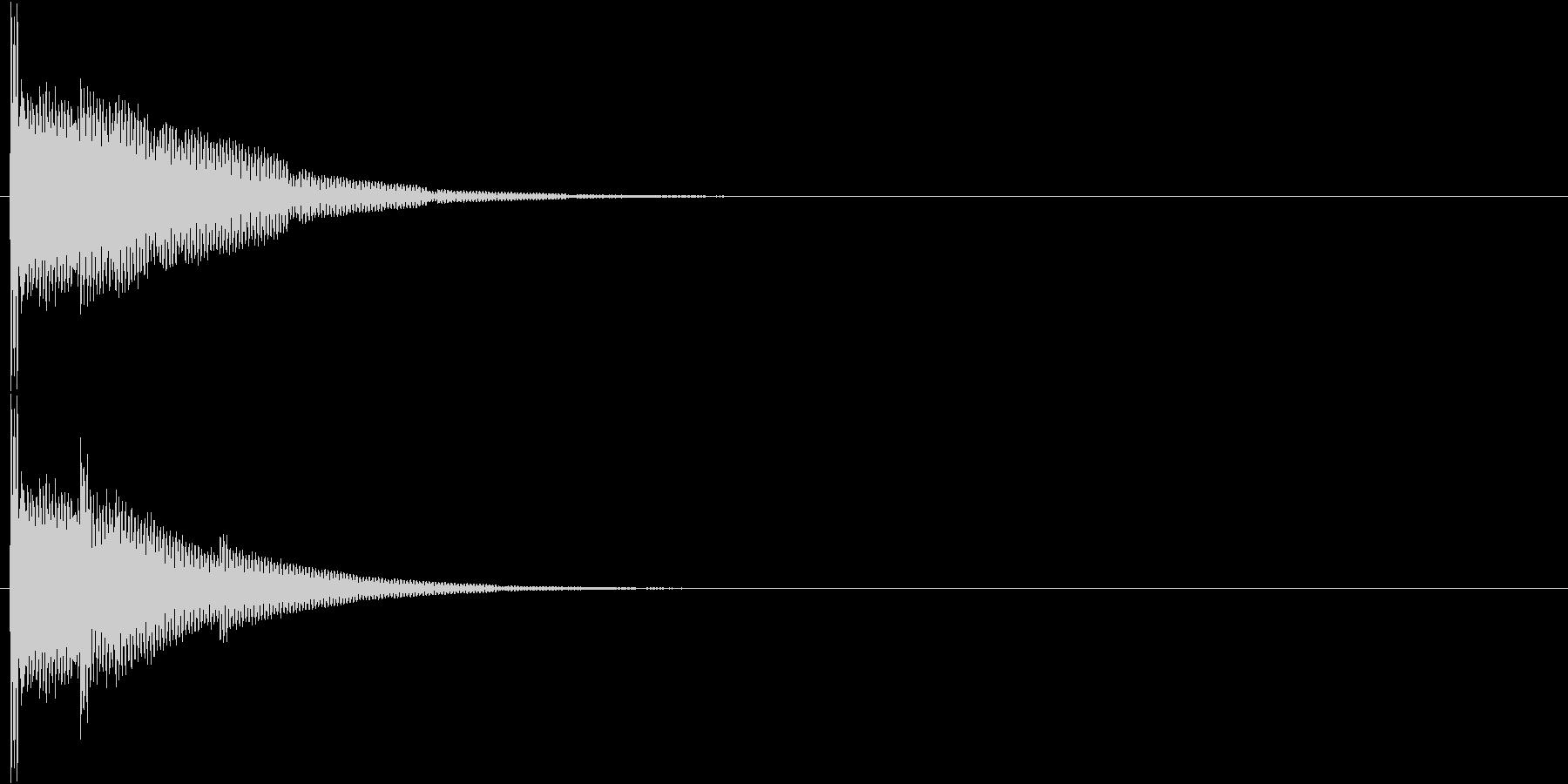 ポーンォーンォー…(清潔感・透明感)の未再生の波形