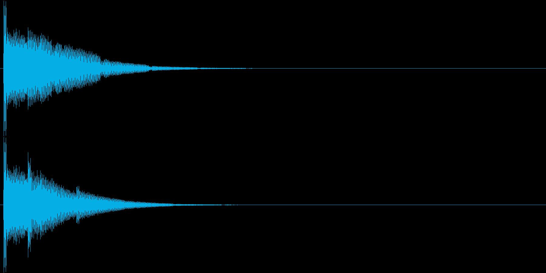 ポーンォーンォー…(清潔感・透明感)の再生済みの波形