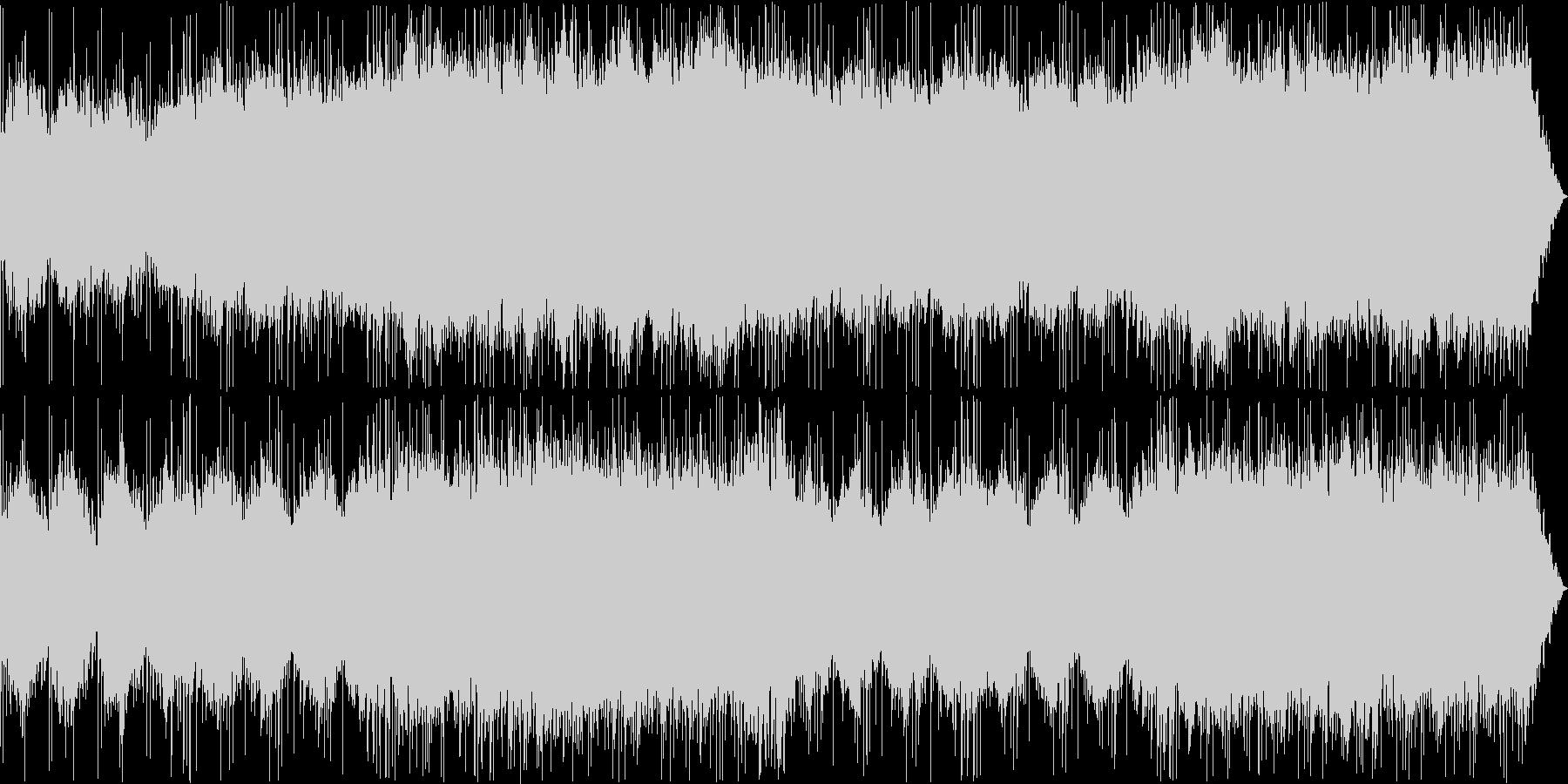 アンビエントで幻想的なゆったりとした曲の未再生の波形