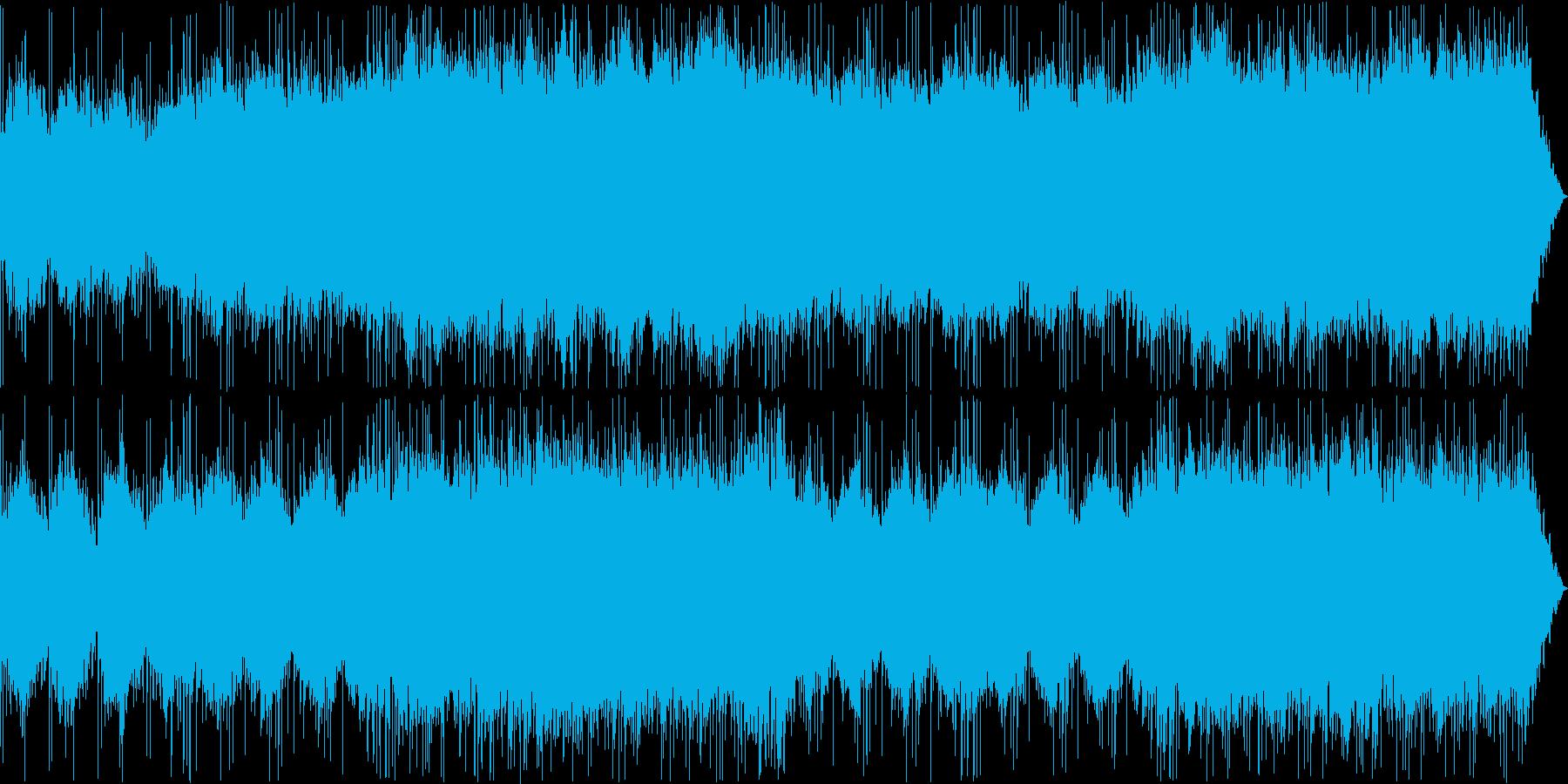 アンビエントで幻想的なゆったりとした曲の再生済みの波形