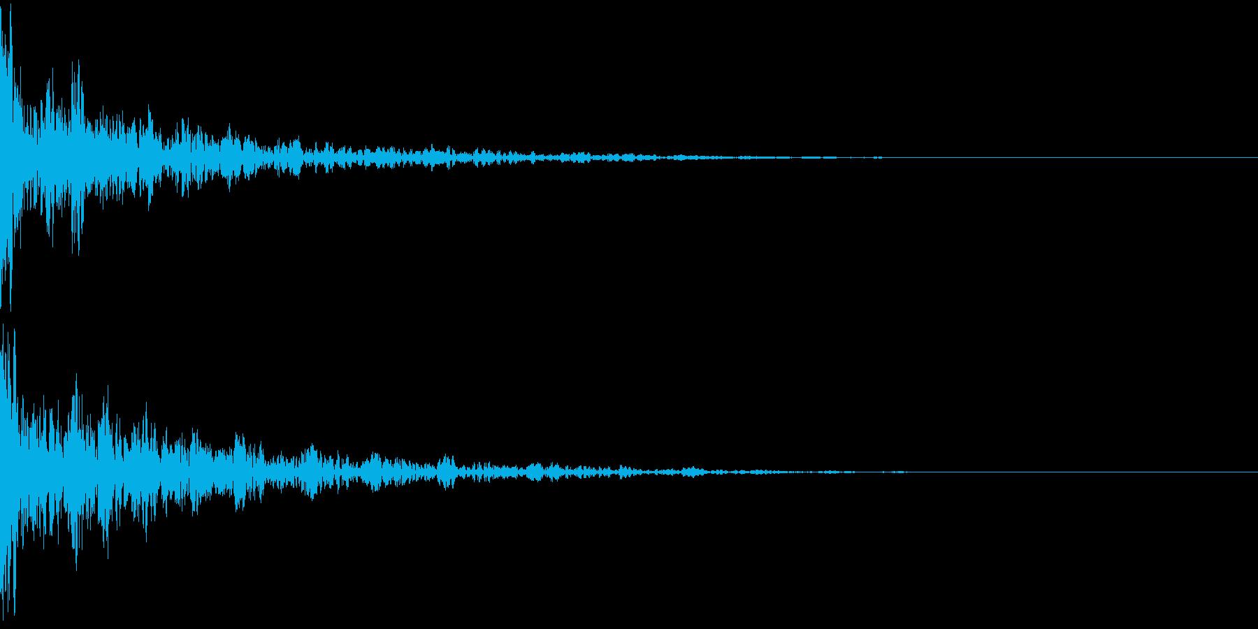 ドーン-49-2(インパクト音)の再生済みの波形