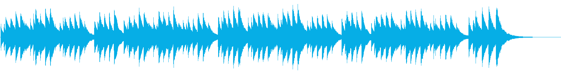 ハッピーバースデー 72弁オルゴールの再生済みの波形