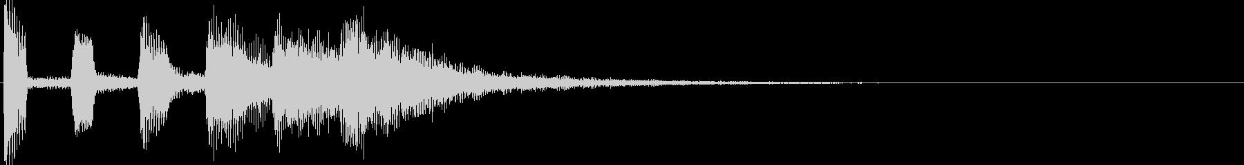 ブザーのような効果音の未再生の波形