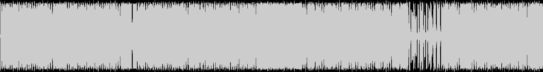四つ打ちのチップチューンの未再生の波形