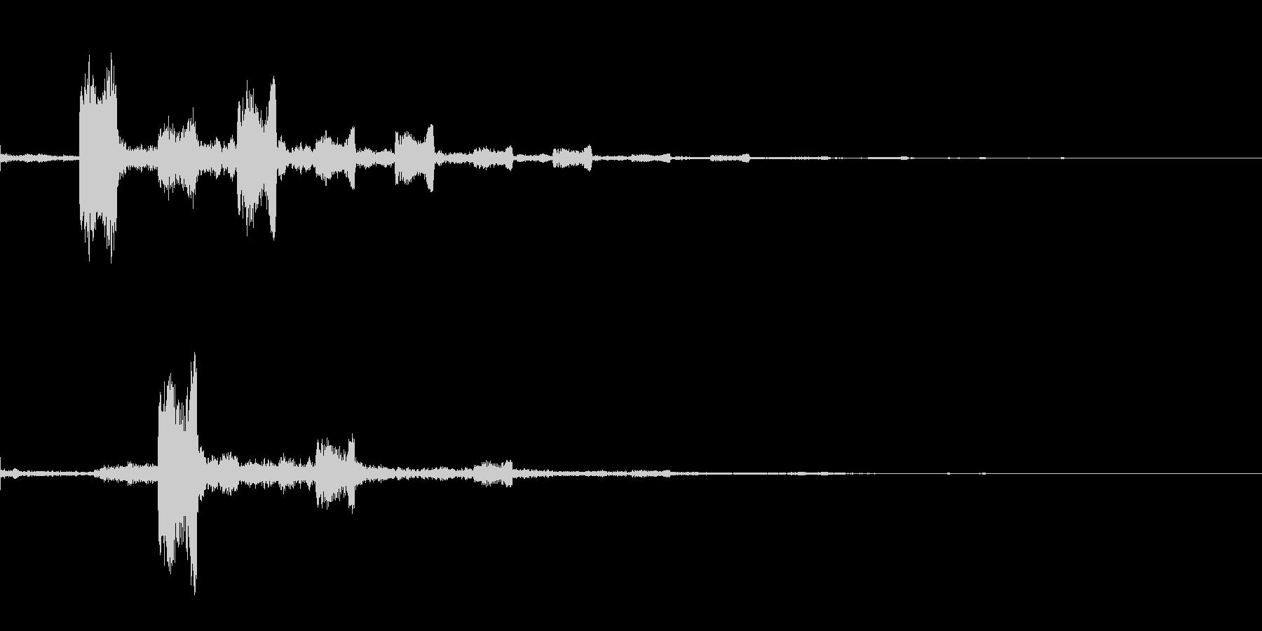 フワ フワッ インパクト音 ロゴの未再生の波形