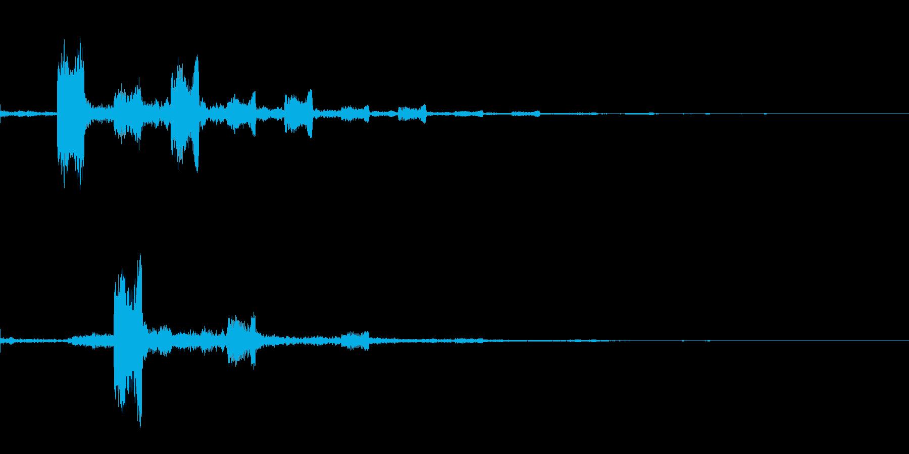 フワ フワッ インパクト音 ロゴの再生済みの波形