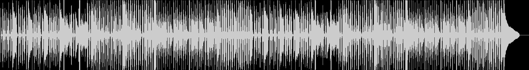 力が抜けるような呑気で平和なコミカル曲の未再生の波形