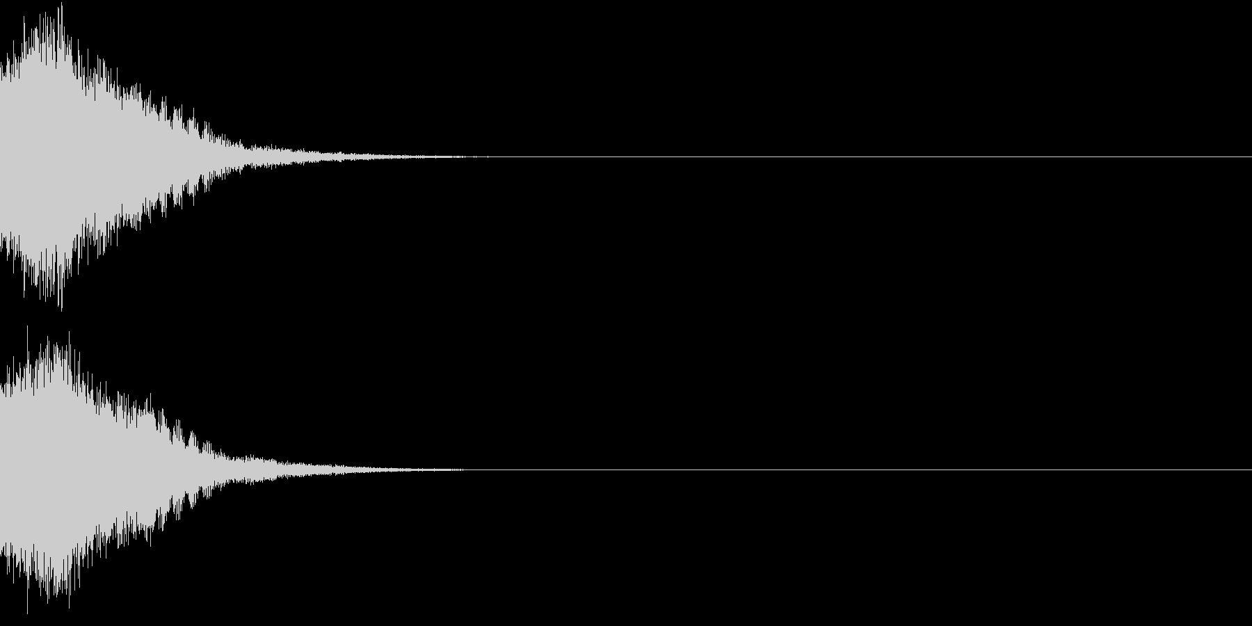 刀 剣 カキーン シャキーン 目立つ22の未再生の波形