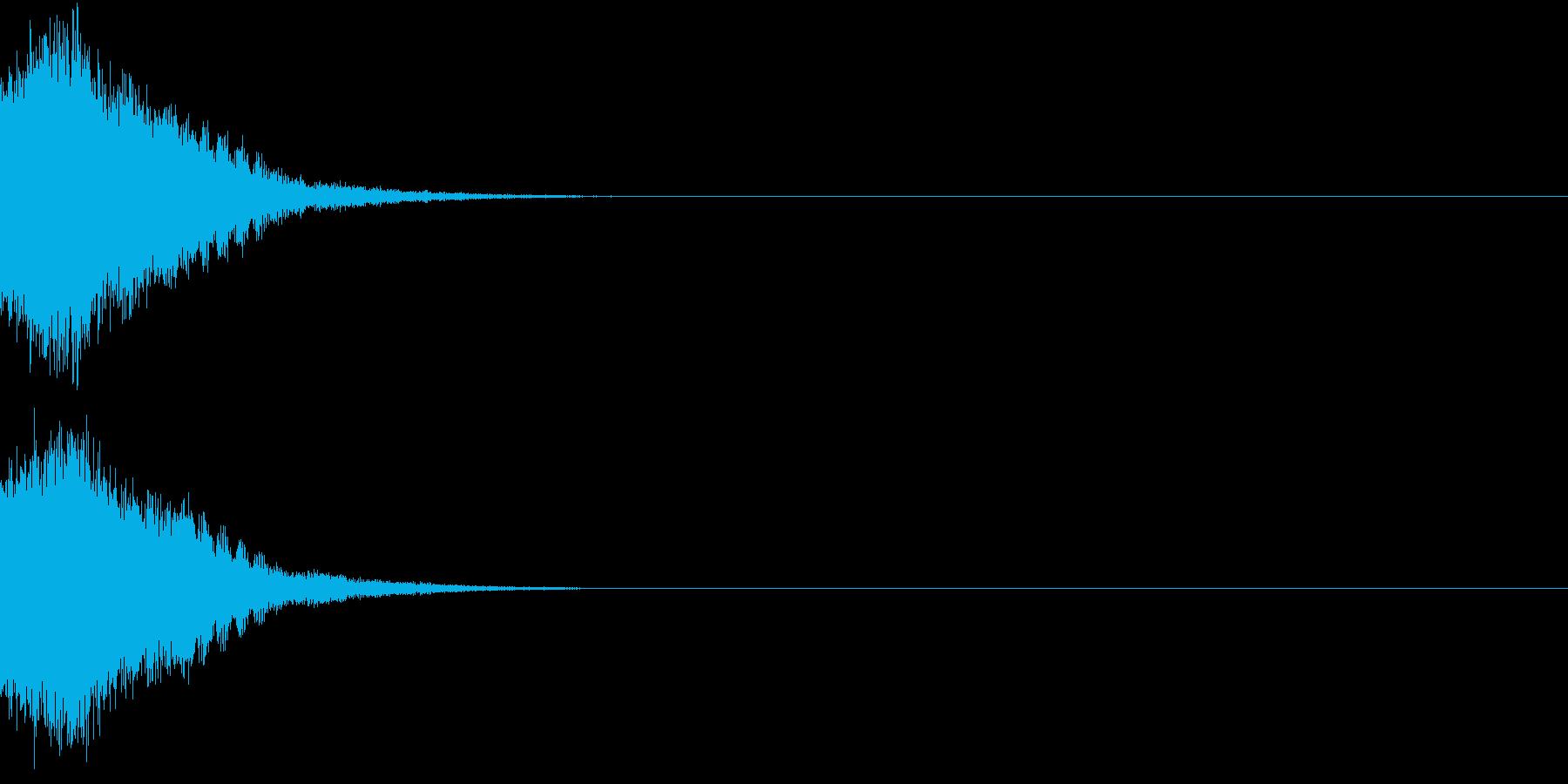 刀 剣 カキーン シャキーン 目立つ22の再生済みの波形